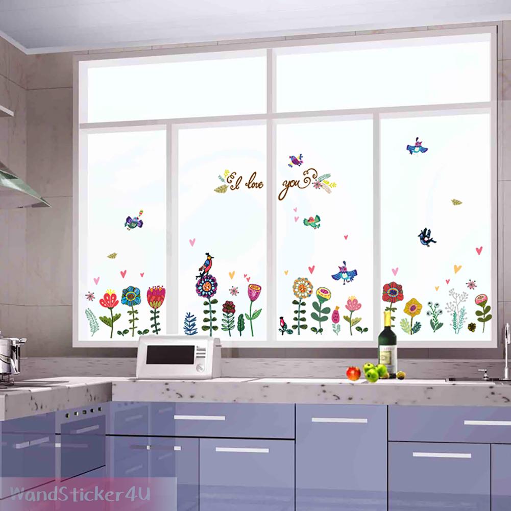 Wandtattoo fenster bilder fenstersticker v gel blumen for Fenster 60x90
