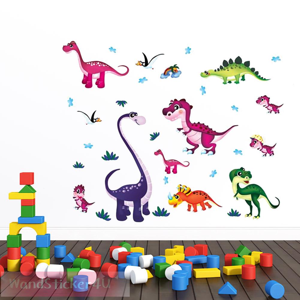 Wandtattoo Kinderzimmer Junge Baby Dino Wandaufkleber Dinosaurier ...