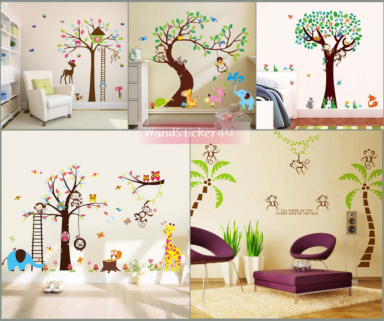emejing wandtattoo kinderzimmer dschungel ideas. Black Bedroom Furniture Sets. Home Design Ideas